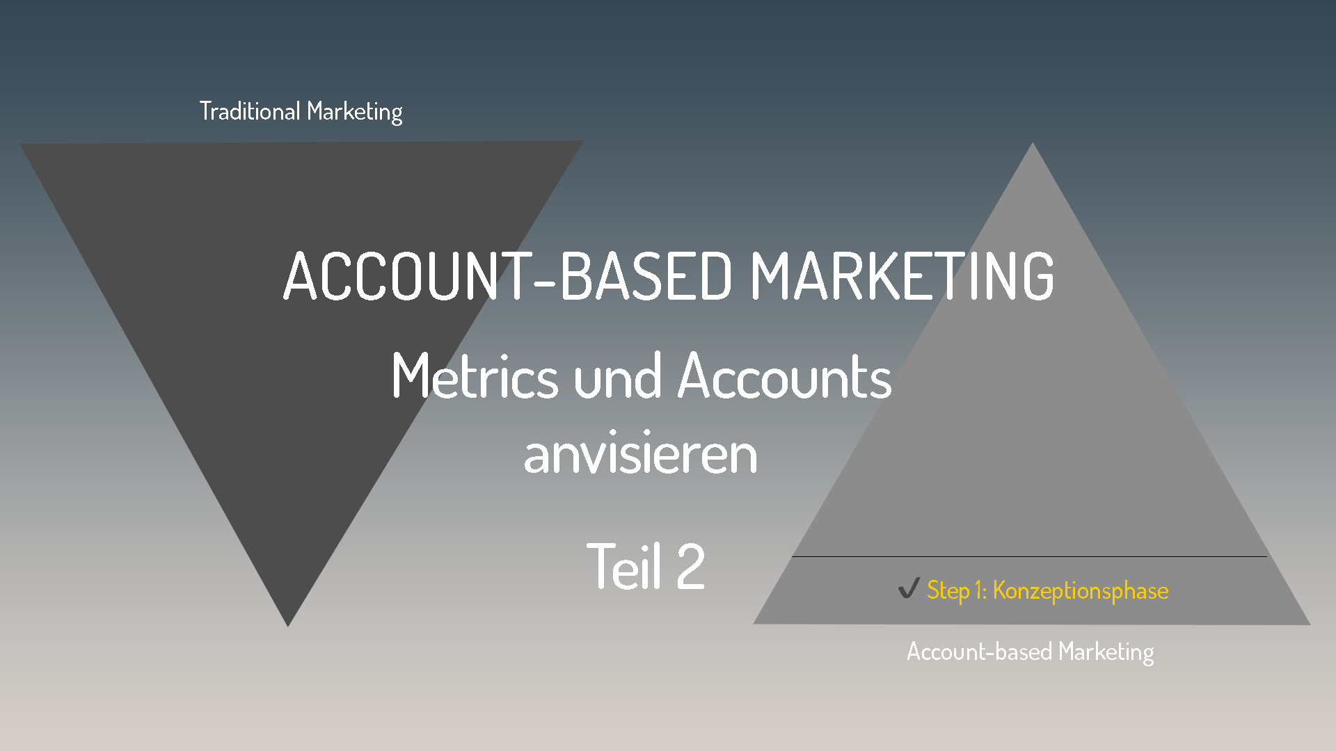 Metrics und Accounts anvisieren